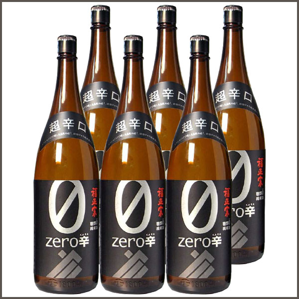 福正宗 ゼロ辛 純米 1800ml ×6本セット【福光屋】日本酒