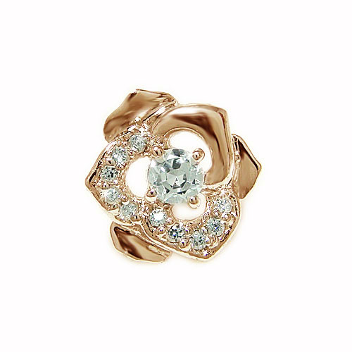 K18PG ピンクゴールド バラ 薔薇 ダイヤ ダイヤモンド お花 フラワー モチーフ ラペルピン ピンバッジ ピンブローチ