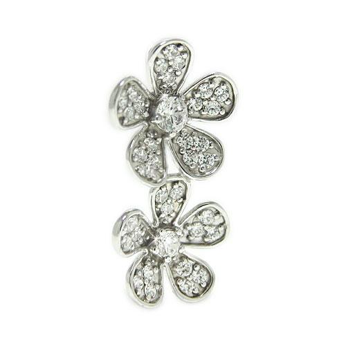 PT900プラチナ ダイヤ ラペルピン ピンバッジ ピンブローチ ブローチ  お花 モチーフ 誕生石