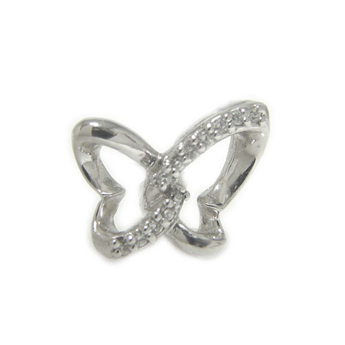 プラチナPT900 ダイヤ 蝶々 ラペルピン ピンブローチ ピンバッジ バタフライ
