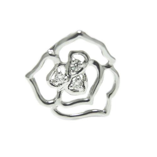 K18 ダイヤ ラペルピン ピンバッジ ピンブローチ ローズ バラ ブローチ ホワイト/ピンク/イエローゴールド 誕生石 ユニセックスデザイン