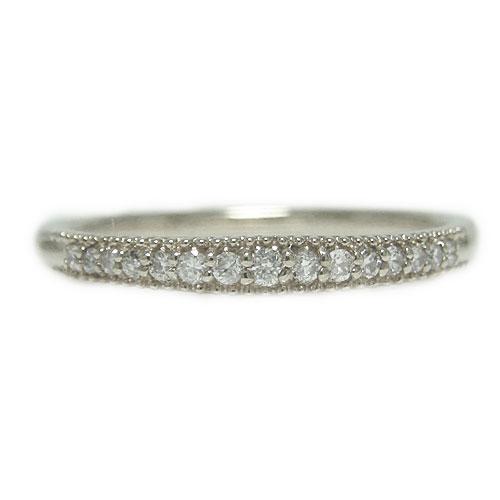 K18WG ホワイトゴールド リング ダイヤ ダイヤモンド エタニティー 重ね着け 細身 指輪