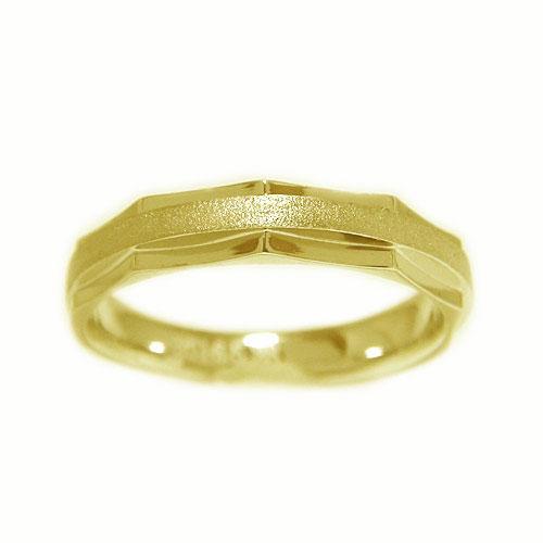 K18YGイエローゴールド 地金 リング マリッジ 結婚指輪 指輪