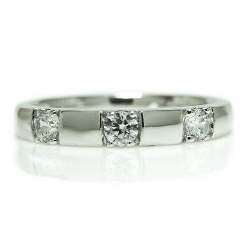 PT900プラチナ リング ダイヤモンド スリーストーン 重ね着け エンゲージ マリッジ 指輪 ブライダル 結婚指輪 誕生石