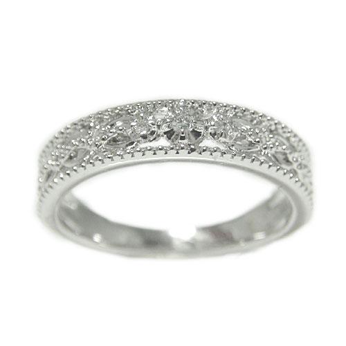 プラチナPT900 ダイヤモンド リング 指輪 記念日 誕生石 透かし柄 プレゼント ギフト