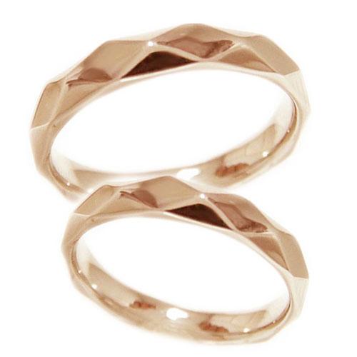 【送料無料】少し太めの3.6mm幅 ペアリング K18PGピンクゴールド 地金 リング マリッジ 結婚指輪 指輪 2本セット