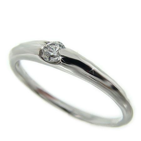 プラチナ Pt900 ダイヤ 一粒ダイヤ リング 一粒石 シンプル 指輪