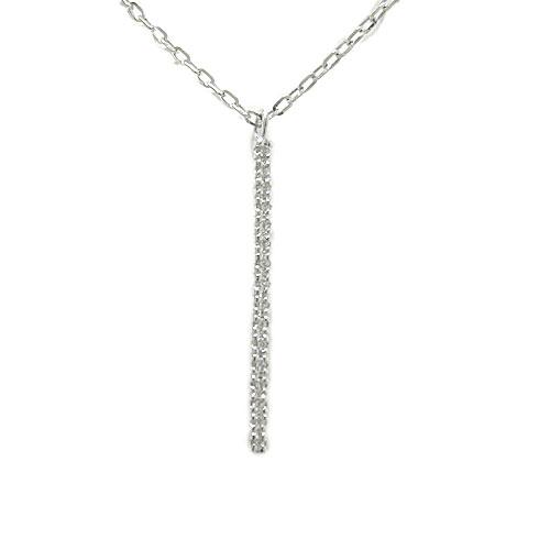 プラチナPT900 ペンダント ダイヤモンド ネックレス ストレート ライン 記念日 プレゼント