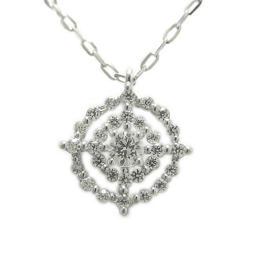 ダイヤ ペンダント ネックレス プラチナPT900 ゴージャス 上品 豪華 天然石 誕生石