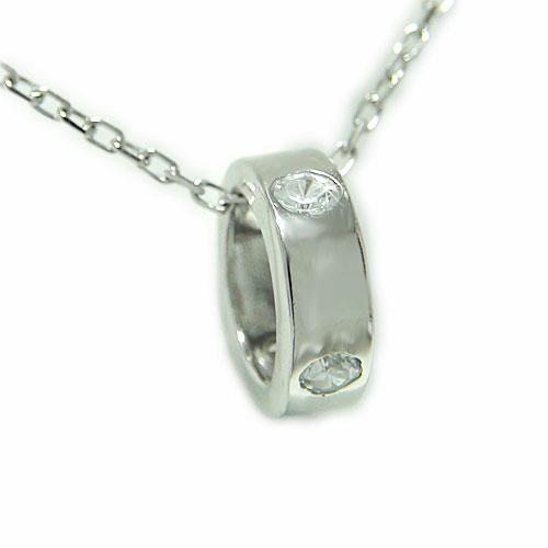 プラチナPt900 ペンダント ダイヤ ベビーリング ネックレス