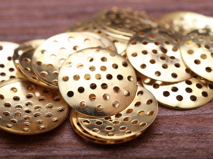 【シャワー金具(約17mm)約25枚セット】ゴールド/シャワー台