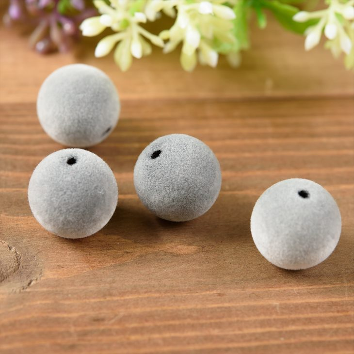 32L 20mm Grey Floral Round Coconut Shell Button