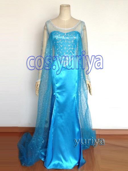 ディズニー プリンセス アナと雪の女王 Frozen エルサ女王★コスプレ衣装