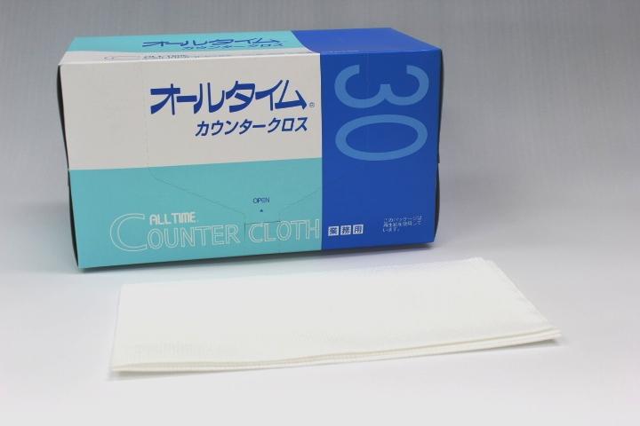 ATカウンタークロス厚口大判 61×61cm FT-350ホワイト(30枚×6箱)【ケース購入特価】
