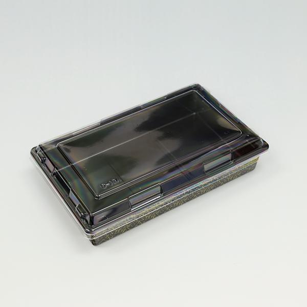 本体深型でシャープな形状 側面も垂直で折箱のような高級感 送料0円 富久折 D-15 外嵌合透明蓋付 結婚祝い 錦 50枚入