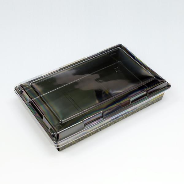 受注生産品 本体深型でシャープな形状 側面も垂直で折箱のような高級感 富久折 D-20 錦 外嵌合透明蓋付 アウトレット 50枚入