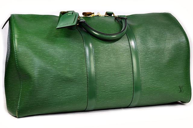 ●【LOUIS VUITTON】 ルイヴィトン  ボストンバッグ 旅行バッグ  キーポル50  ボルネオグリーン   エピ  M42964  エピライン グリーン  緑 本物  ランクA
