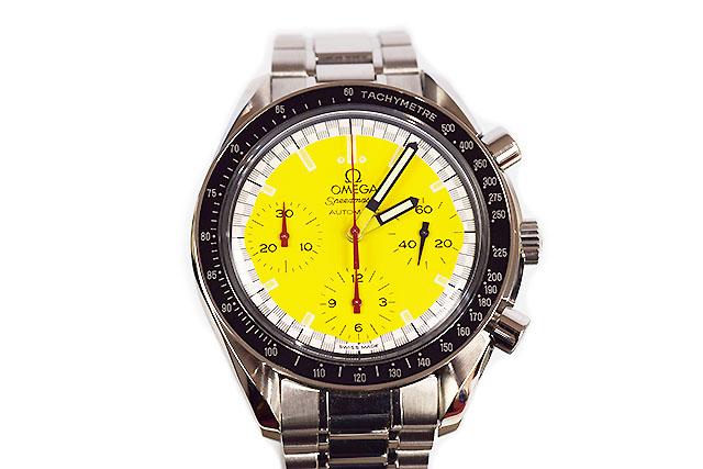 ●【OMEGA】  オメガ  腕時計  スピードマスター   シューマッハモデル 3510.12   イエロー  黄  SS   自動巻き  本物   ランクAプラス!