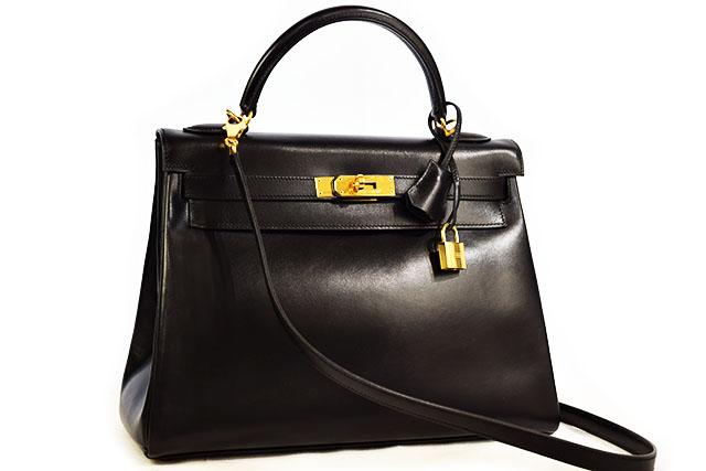 ●【HERMES】 エルメス   ハンドバッグ     ショルダーバッグ    ケリー32    内縫い    黒    ブラック   ボックスカーフ  G金具   ゴールド金具    □D刻印   本物   ランクAプラス