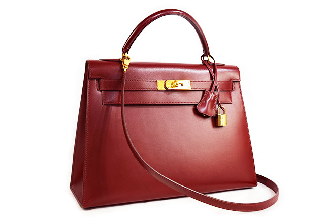 ●【HERMES】 エルメス    ハンドバッグ    ショルダーバッグ   ケリー32   外縫い   ボックスカーフ  ルージュアッシュ  ゴールド金具  G金具  〇V刻印   本物   ランクA