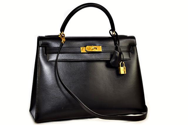 ●【HERMES】エルメス   ショルダーバッグ   ハンドバッグ   ケリー32   外縫い  〇Z刻印   黒   ブラック  ボックスカーフ   ゴールド金具   G金具   ケリー32cm   本物  ランクA
