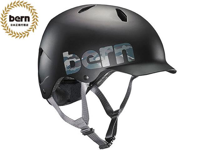 バーン bern - BANDITO バンディート Matte Black Camo Logo マッドブラック カモロゴ 自転車 スケートボード BMX ピスト ヘルメット キッズ