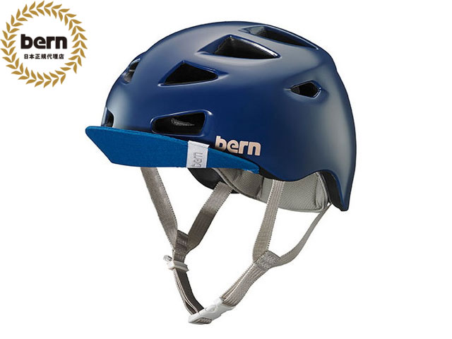 バーン bern - MELROSE BE-BW06Z18SNB SATIN NAVY BLUE メルローズ 自転車 スケートボード BMX ピスト ヘルメット レディース