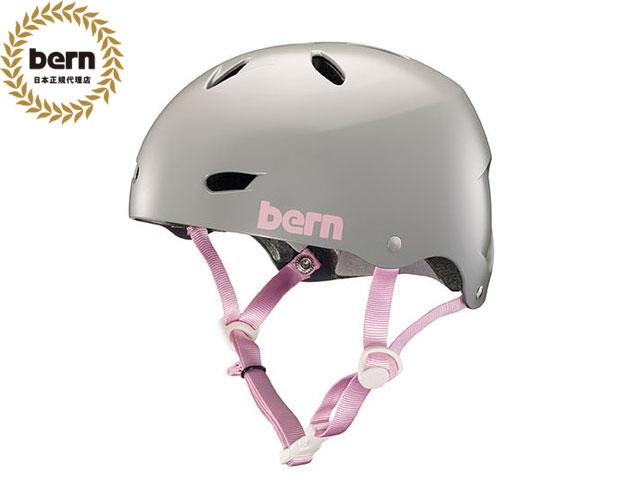 バーン bern - BRIGHTON BE-BW22BSGRY SATIN GREY ブライトン 自転車 スケートボード BMX ピスト ヘルメット レディース