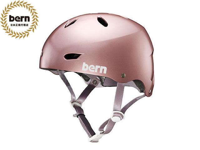 バーン bern - BRIGHTON BE-BW22BSROG SATIN ROSE GOLD ブライトン 自転車 スケートボード BMX ピスト ヘルメット レディース