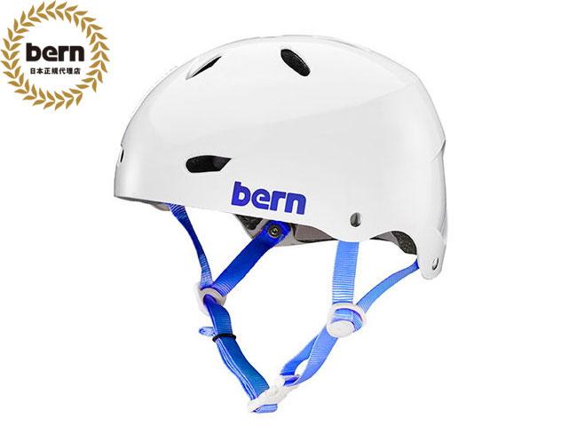 バーン bern - BRIGHTON BE-BW22BGWHT GLOSS WHITE ブライトン 自転車 スケートボード BMX ピスト ヘルメット レディース