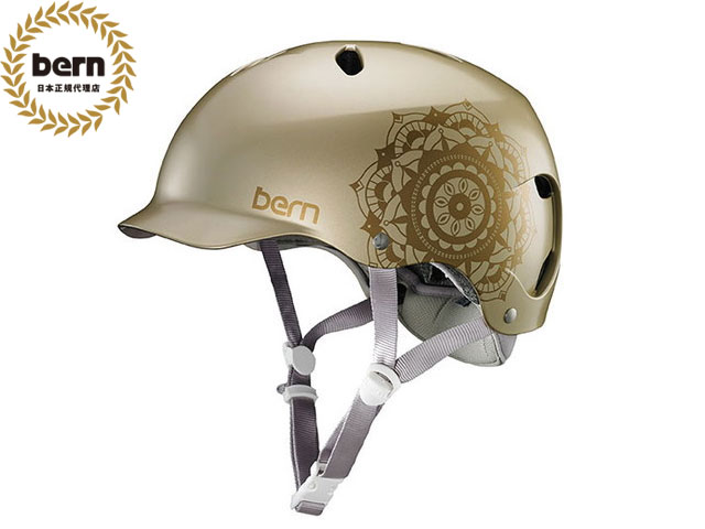 バーン bern LENOX BE-BW25BSCAM SATIN CHAMPAGNE MANDALA レノックス 自転車 スケートボード BMX ピスト ヘルメット レディース