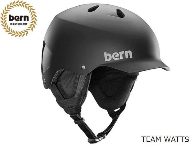 【国内正規品】 バーン bern TEAM WATTS MATTE BLACK チーム ワッツ マットブラック 黒 ウィンターモデル スキー スノーボード 自転車 スケートボード BMX ピスト ヘルメット JAPAN FIT