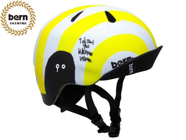 【国内正規品】 バーン bern NINO ニノ (Visor付) ALL SEASON RYUJI KAIYAMA NEON YELLOW ネオンイエロー 自転車 スケートボード BMX ピスト ヘルメット キッズ 神山