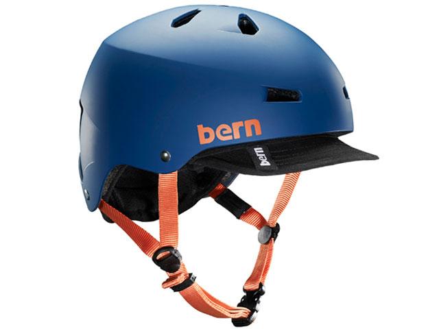 バーン bern - メイコン MACON VISOR ALL SEASON MATTE BLUE メイコン バイザー マット ブルー 自転車 スケートボード BMX ピスト ヘルメット