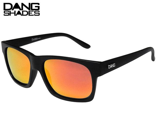 【国内正規品】 DANG SHADES サングラス GRASSER グラッサー Black Matte x Red Mirror Polarized (Metal Logo) ミラーレンズ 偏光レンズ カラーフレーム ダンシェイディーズ サングラス トイサングラス