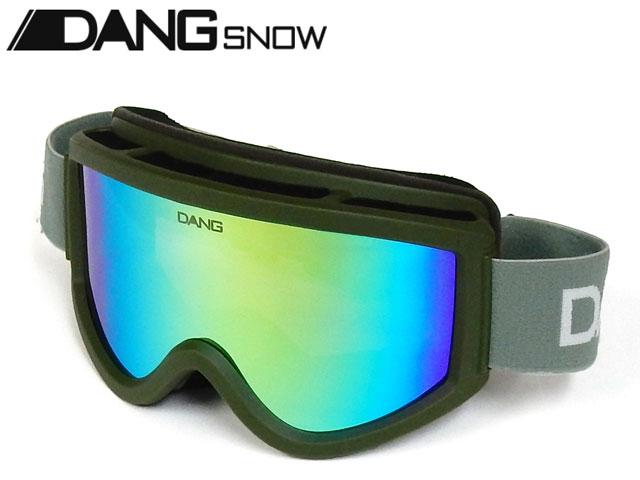 【国内正規品】 DANG SNOW スノーゴーグル SNOW GOGGLES Army Green Matte x Green Mirror ダンシェイディーズ サングラス トイサングラス スノーボード スキー バイク