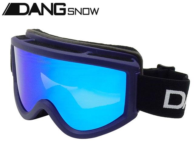【国内正規品】 DANG SNOW スノーゴーグル SNOW GOGGLES Navy Purple Matte x Blue Mirror ダンシェイディーズ サングラス トイサングラス スノーボード スキー バイク