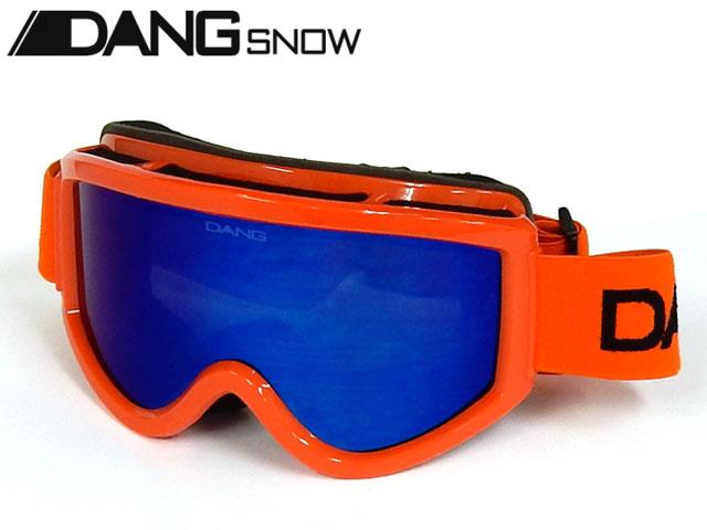 【国内正規品】 DANG SNOW スノーゴーグル SNOW GOGGLES Orange Gloss x Blue Mirror ダンシェイディーズ サングラス トイサングラス スノーボード スキー バイク
