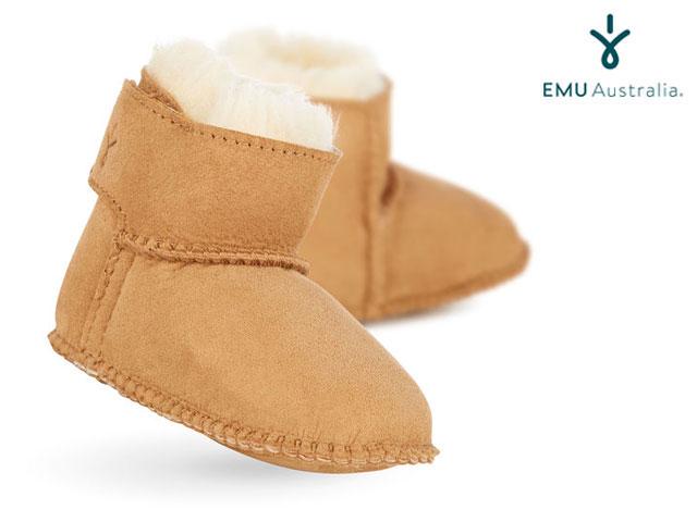 【国内正規品】 emu australia <ベビー/キッズ> Baby Bootie CHESTNUT ベビーブーティー チェスナット エミューオーストラリア シープスキンブーツ