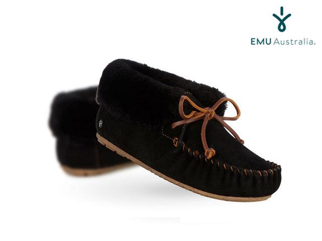 【国内正規品】 emu australia <レディース> MOONAH BLACK ブラック Women's ムーナ エミューオーストラリア シープスキンブーツ