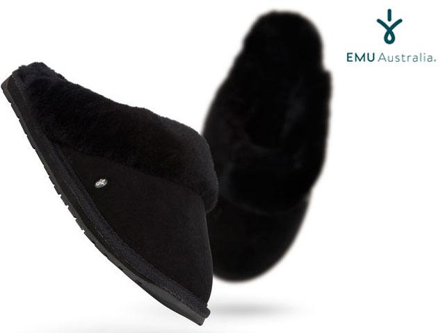 【国内正規品】 emu australia <レディース> ジョリー ブラック Women's JOLIE BLACK ルームシューズ サンダル スリッパ エミューオーストラリア シープスキンブーツ