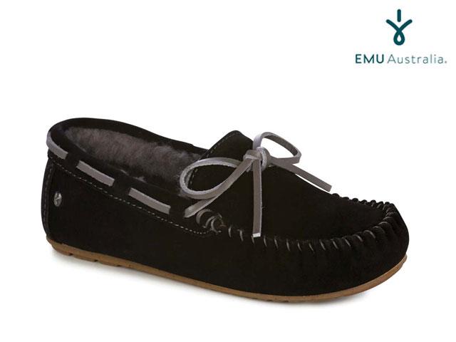【国内正規品】 emu australia <レディース>アミティー BLACK/CHARCOAL ブラック/チャコールグレー Women's AMITY shoes シューズ エミューオーストラリア