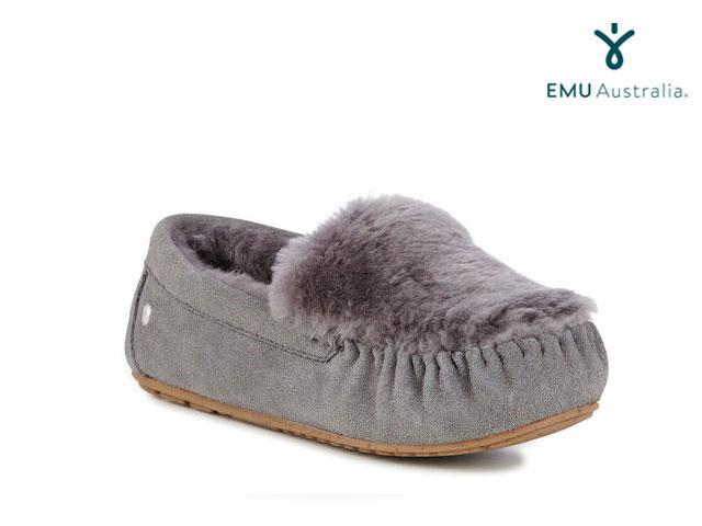 【国内正規品】 emu australia <レディース> ケアンズ スエード リバース ファー チャコール CAIRNS SUEDE REVERS FUR CHARCOAL Women's shoes シューズ エミューオーストラリア