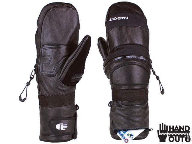 HAND OUT GLOVES 17-18モデル ハンドアウト グローブ PRO MITTEN プロミトン レザー スキーグローブ 手袋 ミトン バイク 日本正規品