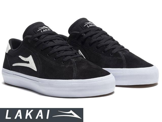 【国内正規品】 Lakai 【2019SPRINGモデル】 FLACO II BLACK SUEDE フラコ 2 ブラック/ホワイト スエード ラカイ スケート SKATE スニーカー