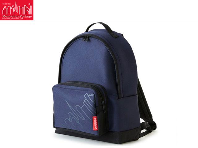 【国内正規品】 Manhattan Portage Neoprene Fabric Big Apple Backpack JR ネオプレン ファブリック ビッグ アップル バックパック バッグ NAVY ネイビー 紺 マンハッタン ポーテージ マンハッタンポーテージ