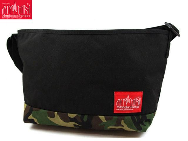 【国内正規品】 Manhattan Portage フラットブッシュ メッセンジャー MP1631 BLACK/WOODLANDCAMO 黒/カモフラ柄 Flatbush Messenger Bags マンハッタン ポーテージ マンハッタンポーテージ