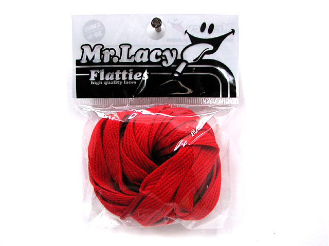 Mr.Lacy フラッティーズ red シューレース 赤 Flatties ミスターレイシー
