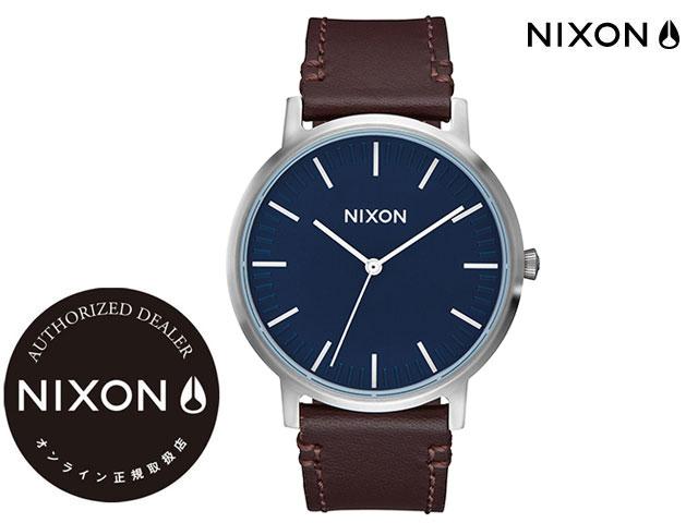 【国内正規品】 ニクソン NIXON THE PORTER LEATHER NAVY/BROWN ザ ポーター ネイビー/ブラウン 腕時計 WATCH