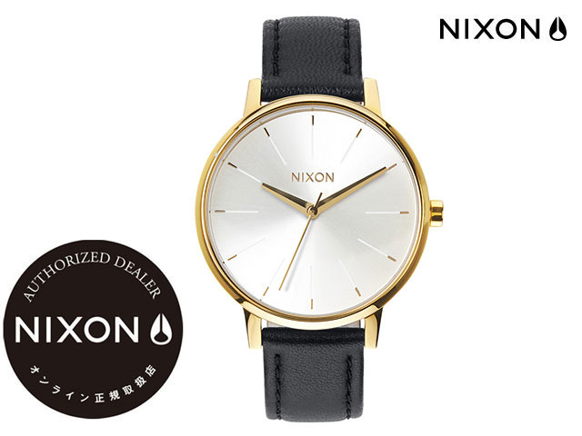 【国内正規品】 ニクソン NIXON THE KENSINGTON LEATHER GOLD/WHITE/BLACK ザ ケンジントン レザー ゴールド/ホワイト/ブラック 腕時計 WATCH